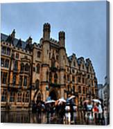 Wet And Miserable London Canvas Print