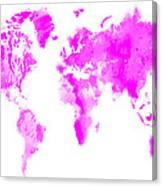 Wet Paint World Map Canvas Print