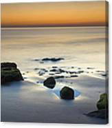 Wet Sunset Reflections Canvas Print