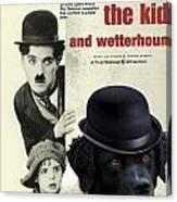 Wetterhoun-frisian Water Dog Art Canvas Print - The Kid Movie Poster Canvas Print