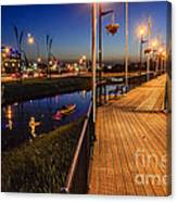 Embankment Of Weyburn Canvas Print