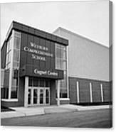 weyburn comprehensive school cugnet centre Saskatchewan Canada Canvas Print