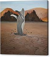 Whale In Desert Canvas Print