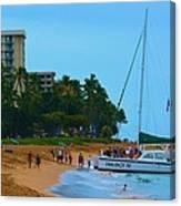 Whale Watchers On Maui Canvas Print