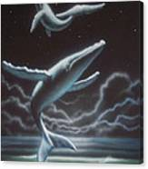 Whales in the Sky Canvas Print