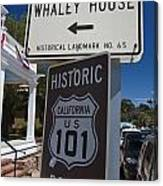 Whaley House Us Hwy 101 Historic Route Canvas Print