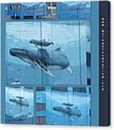 Whaling Wall 42 -  East Coast Humpbacks - Original Painting By Wyland Canvas Print