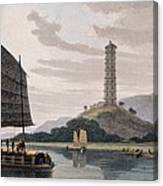 Wham Poa Pagoda, With Boats Sailing Canvas Print