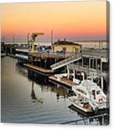 Wharf #2 In Monterey At Sunset Canvas Print