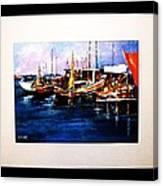 Wharf Scene Canvas Print
