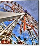 Wharf Wheel Canvas Print