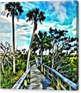 What A Beautiful Boardwalk Canvas Print