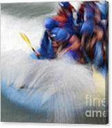 White Water Rafting What A Rush Canvas Print