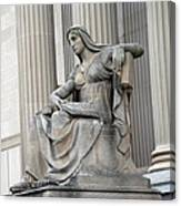What Is Past Is Prologue Statue At National Archives -- 2 Canvas Print