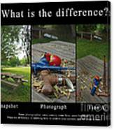 What Is The Difference Canvas Print