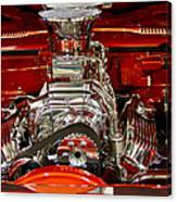 What Is Under The Hood-red Customized Retro Pontiac Canvas Print