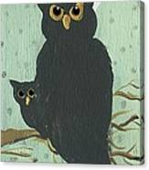 What The Who? Owls  Canvas Print
