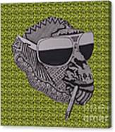 Whatssup Dawg Green Canvas Print