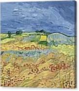 Wheatfield With Stormy Sky Canvas Print