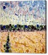 Wheatfields At Dusk Canvas Print