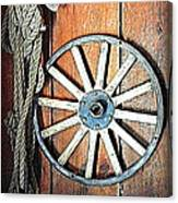 Wheel An Rope Canvas Print