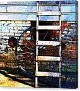Wheel And Ladder Canvas Print