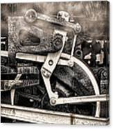 Wheel And Steam Canvas Print