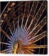 Wheel At Night Niagara Falls Canvas Print