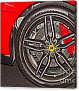 Wheel Of A Ferrari Canvas Print