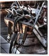Wheelbarrow At Shipyard Canvas Print