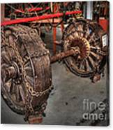 Wheels Of Old Steam Wagon Canvas Print