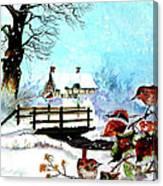 When It Snows Canvas Print