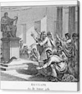 When Plague-afflicted Romans  Come Canvas Print