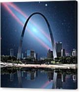 When The Galaxy Came To St. Louis Canvas Print