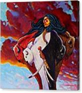 When The White Buffalo Woman First Appeared Canvas Print