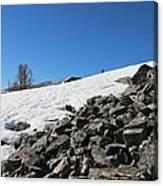 Where Snow Meets Rock Canvas Print