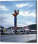 Where The West Begins Stateline Casino In Wendover Nevada 1962 Canvas Print