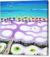 Whimsical Beach Umbrellas - Seashore Canvas Print