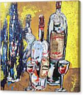 Whimsical Wine Bottles Canvas Print