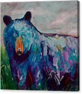 Whimsy Bear Painting Black Bear Brown Bear Wall Art Canvas Print
