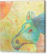 Whimsy Colorful Horse Canvas Print