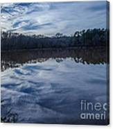 Whipped Cream Christmas Reflection Canvas Print