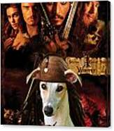 Whippet Art - Pirates Of The Caribbean The Curse Of The Black Pearl Movie Poster Canvas Print