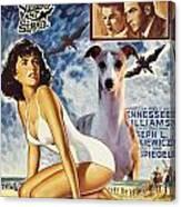 Whippet Art - Suddenly Last Summer Movie Poster Canvas Print