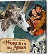 Whippet Art - The World In His Arms Movie Poster Canvas Print