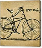 Whippet Bicycle Canvas Print
