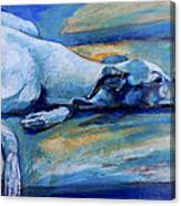 Whippet-effects Of Gravity-6 Canvas Print