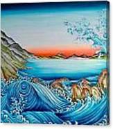 Whirlpool And Rocks Canvas Print