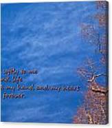 Whisper Softly Canvas Print
