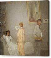 Whistler In His Studio Canvas Print